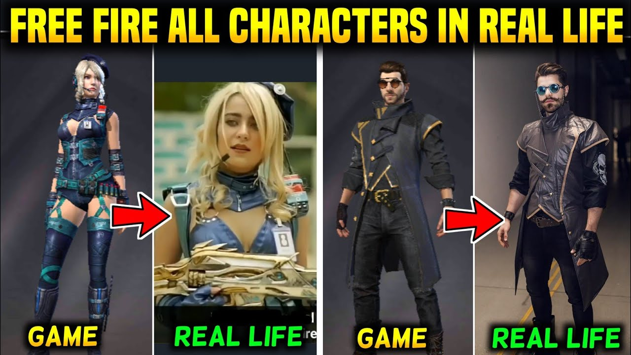FREE FIRE ALL CHARACTERS IN REAL LIFE 2020 || FREE FIRE CHARACTERS IN REAL LIFE || ULTIMATE VERSION