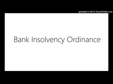 Bank Insolvency Ordinance