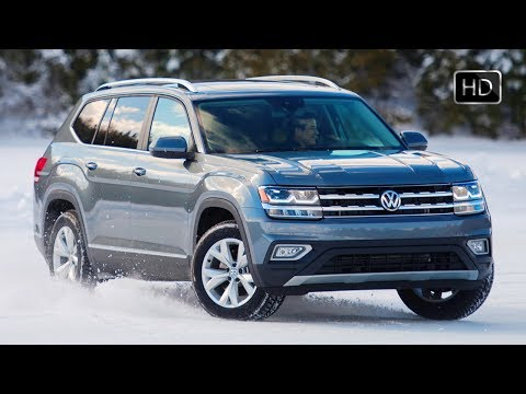 2018 VW Atlas Full-Size SUV Exterior - Interior Design & Driving Footage HD