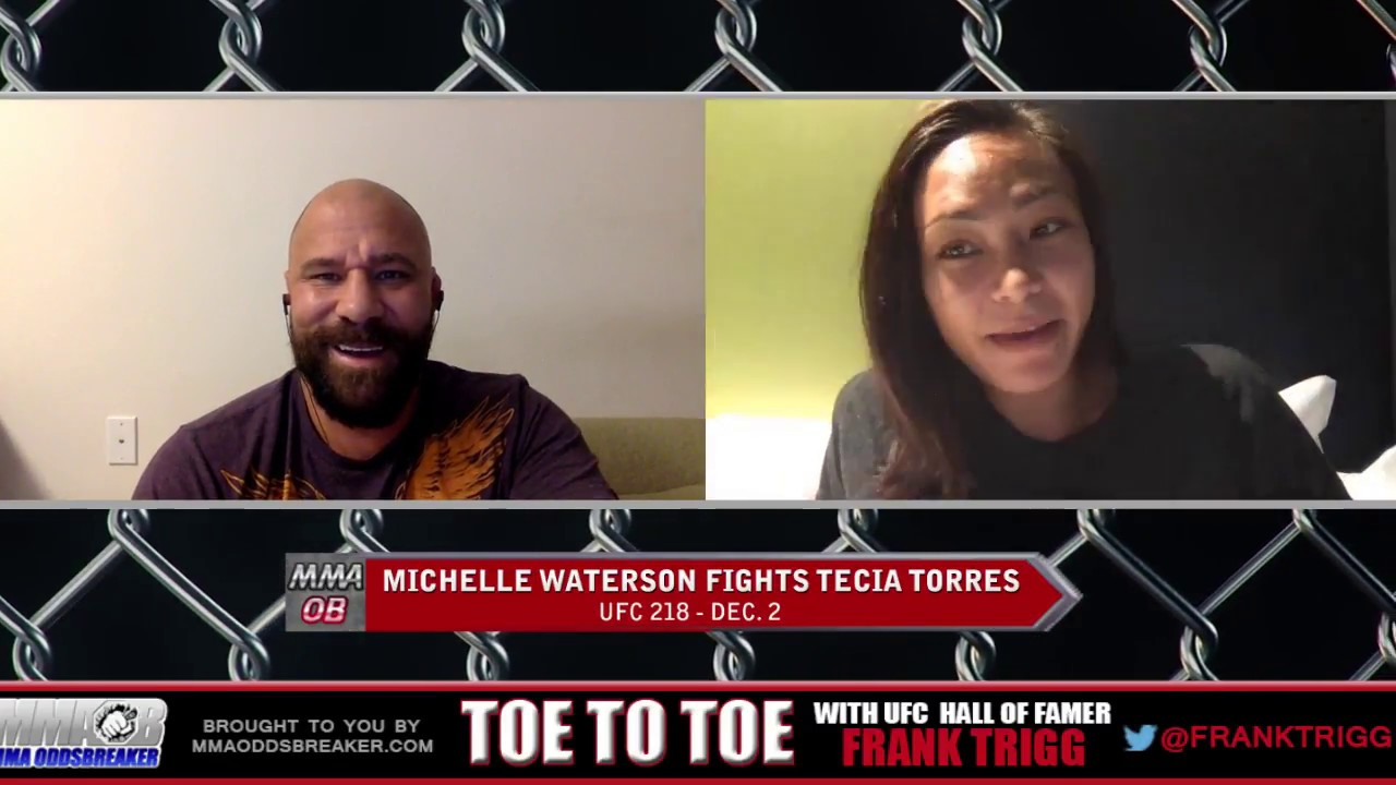 Frank Trigg pre-fight interview with UFC 218's Michelle Waterson