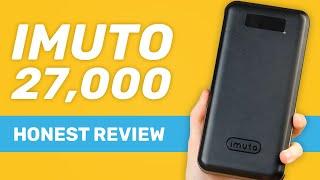 Imuto 27000 mAh / 30,000 mAh USB Power Bank Honest Review