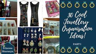 JEWELRY ORGANISATION IDEAS PART 1 | DAILY WEAR & TRADITIONAL JEWELRY ORGANISATION| PRINCESS SHARANYA