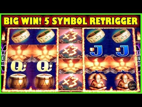 * SUPER BIG WIN * 🔥 FIRE LIGHT II - 5 SYMBOL BONUS RETRIGGER 🔥 (Aristocrat Slot Machine)