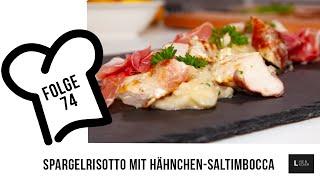 Wie mache ich das weltbeste Spargelrisotto?  LIVE &amp LECKER Spargelrisotto mit Hähnchen-Saltimbocca
