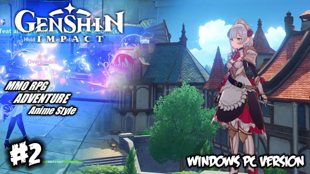 New Game Genshin Impact Pc 2 Register Di Android Main Di Pc Youtube