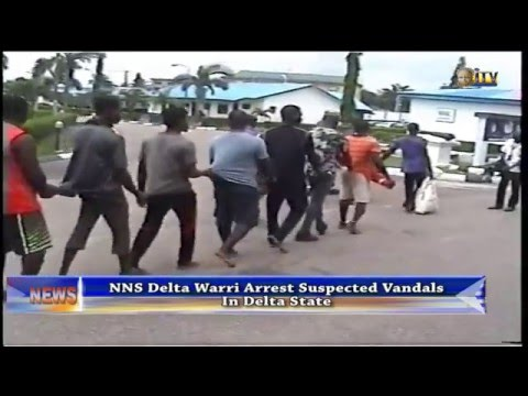 NNS Warri arrest suspected vandals in Delta