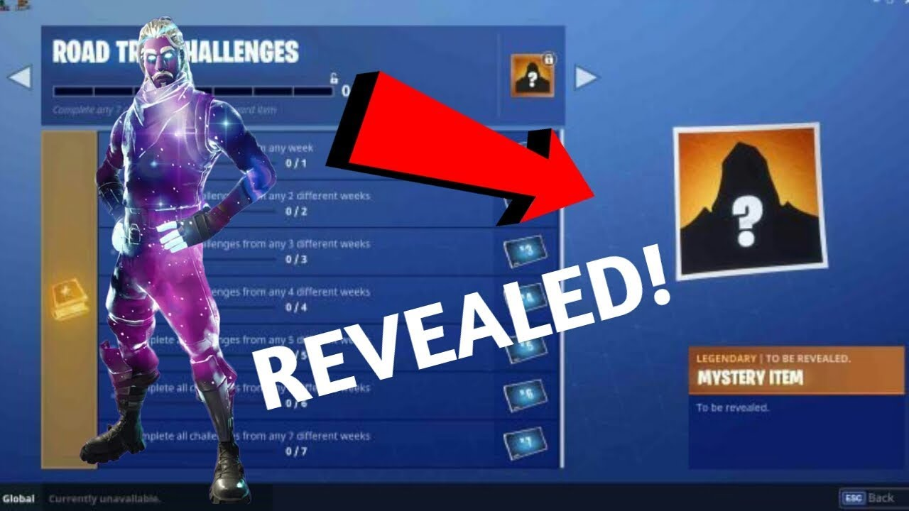 New Galaxy Skin Revealed Could It Be The Mystery Item Fortnite Battle Royale