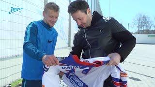 Илья Ковальчук и воспитанники Академии на тренировке сине-бело-голубых