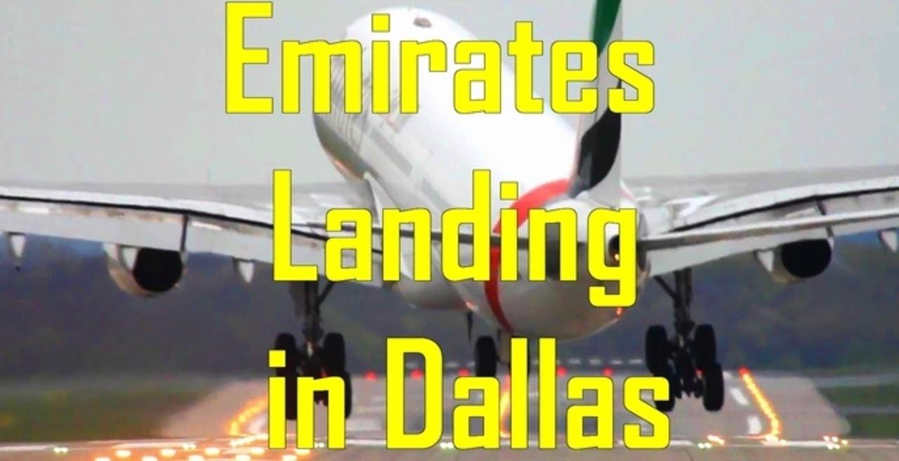Emirates EK 221 Flight From Dubai Landing In Dallas - YouTube