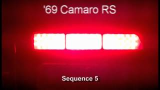 1969 Camaro RS LED Sequential Tail Lights by Easy Performance Products