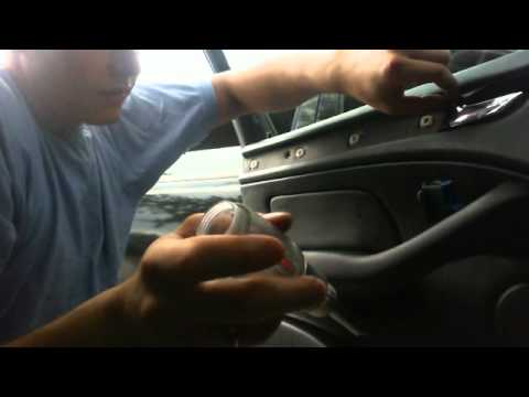 Removing BMW Door Panel replacing Door lock latch CABLE - YouTube
