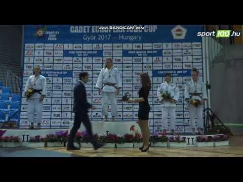 Michalina Skipiala - awarding ceremony - CADET EUROPEAN JUDO CUP GYOR 2017 HUNGARY