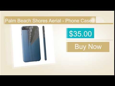 Palm Beach Shores Aerial - Phone Case