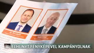 Az elhunyt polgármester fényképével kampányol a Fidesz Mohácson 19-10-11