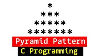 Pyramid Pattern Printing Program in C Programming Language