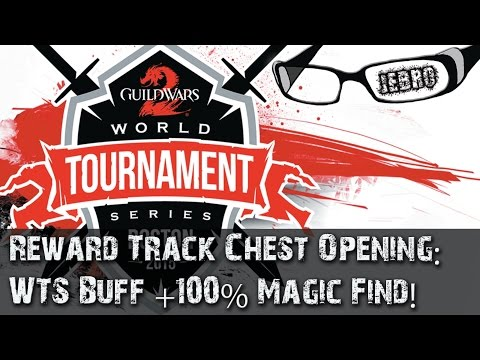GW2 sPVP WTS Buff Twighlight Arbor Reward Track chest opening - Magic find 430%