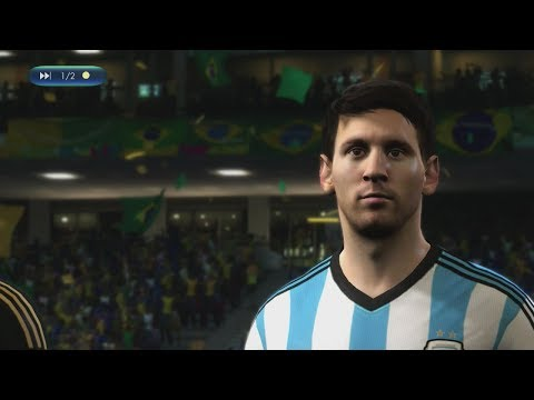 2014 FIFA World Cup Brazil  Brazil vs Argentina  Online World Cup Gameplay