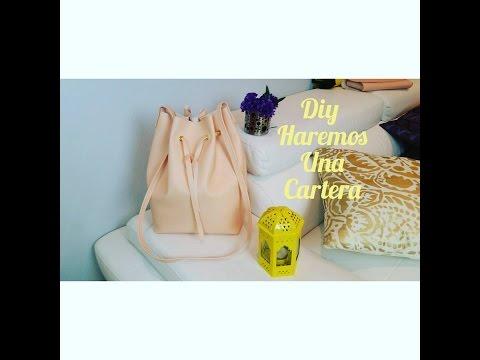 DIY cartera( bucket bag)