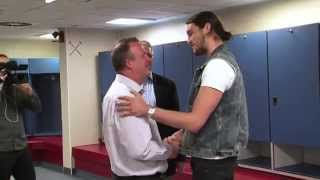 Andy Carroll surprises Season Ticket Holder