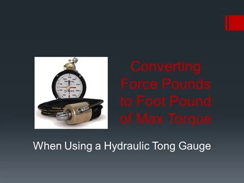 Converting Force Pounds to Foot Pound of Max Torque