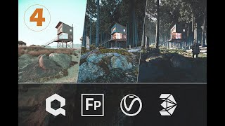 3ds Max + Forest Pack Video 4: Setting Up a V-Ray Camera To Match Our Sketch 4/4