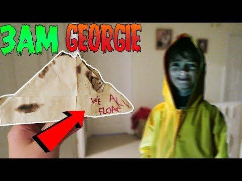 I CALLED GEORGIE (FROM IT MOVIE) ON FACETIME AT 3AM!! OMG SO SCARY!! *HE CAME TO MY HOUSE!*