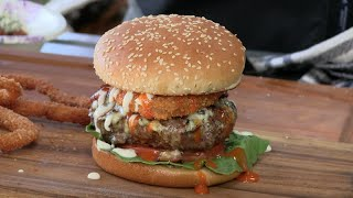 Buffalo Blue Burger Recipe! (On the Weber)