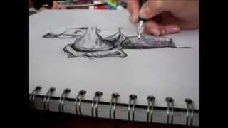 Samurai Warrior SPEED ART Biro drawing by Em