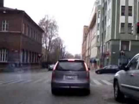 Driving in Helsinki, Finland