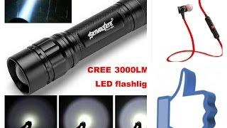 Bluetooth наушники Awei A920BL и фонарь светодиодный Sky Wolf Eye CREE XML T6 LED 18650(Рекомендую канал Tatyana Krasota с распаковкой детских вещей и игрушками из Китая: ..., 2016-03-16T18:46:52.000Z)