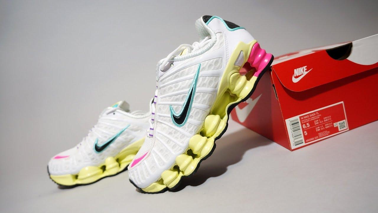 Nike Shox TL White Metallic Silver Running Shoes AR3566