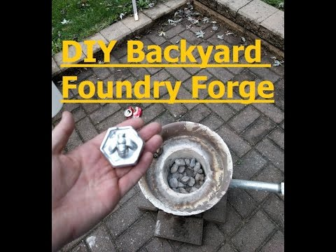 DIY Backyard Foundry Forge for Casting Aluminum & Copper