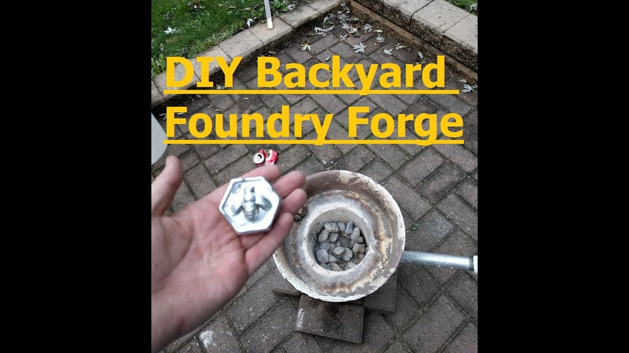 Diy Backyard Foundry Forge For Casting Aluminum Copper Youtube