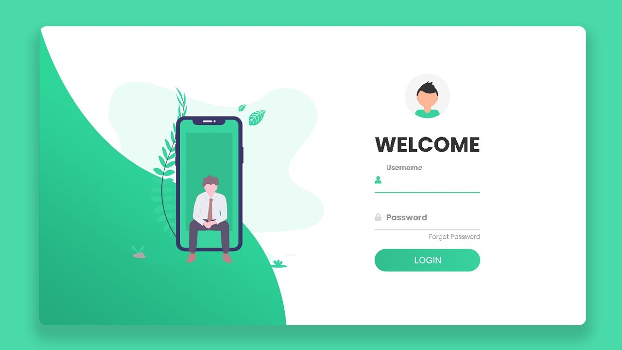 Responsive Login Form Using HTML CSS & Javascript | How To Create a Sign In Form