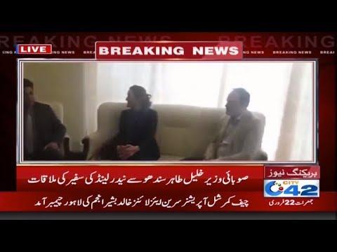 صوبائی وزیر خلیل طاہر سندھو سے نیدر لینڈ کی سفیر کی ملاقات