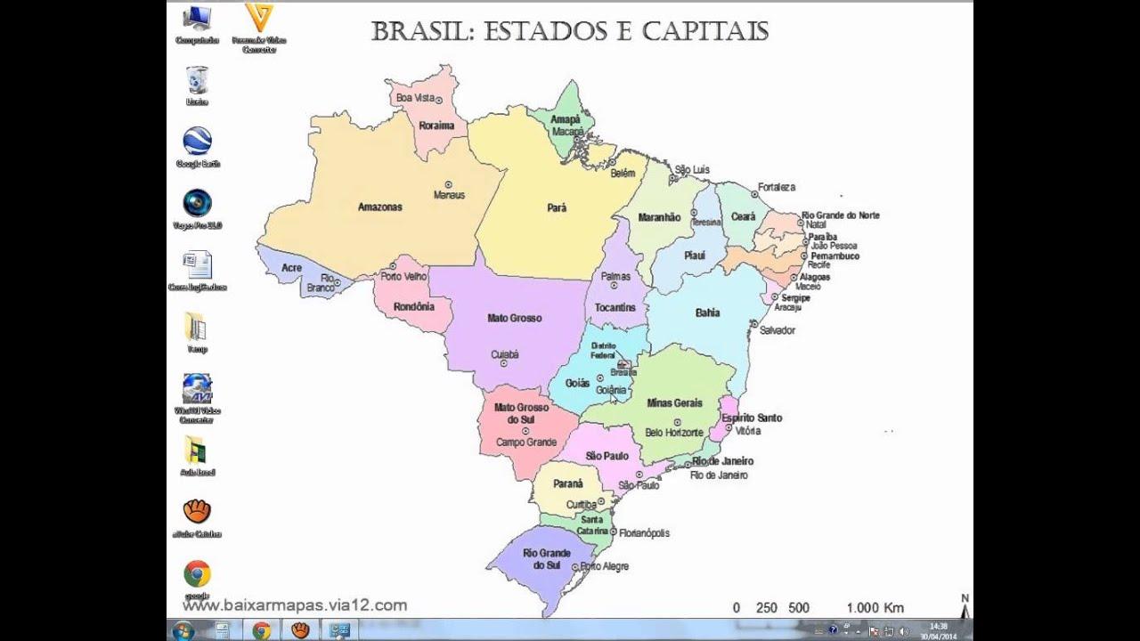 Estados E Capitais Brasileiros Youtube