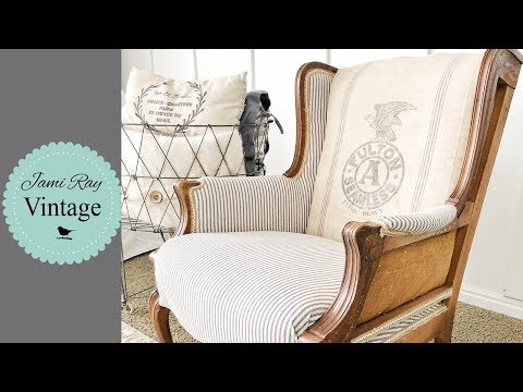 How To Upholster A Deconstructed Chair | Full DIY