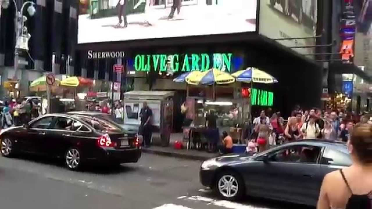 Times Square Olive Garden Youtube
