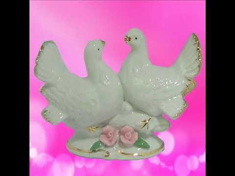 Divya Mantra Feng Shui Vastu Love Birds White Dove Pair