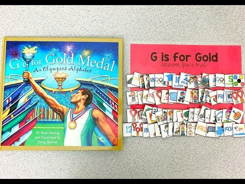 G is for Gold Medal An Olympics Alphabet Adapted Piece Book Set Preview - Winter Games Set