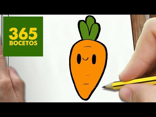 Dibujo Zanahoria Facil – De la zanahoria suele decirse que ayuda a broncear la piel y que es buena para la vista, pero más allá de estos efectos, la esta experta destaca siete beneficios esenciales del consumo de zanahoria