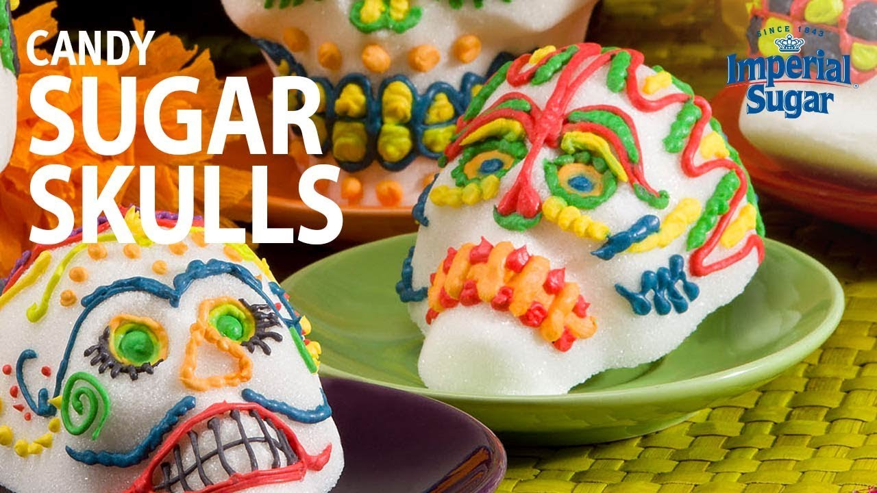 how to make day of the dead candy sugar skulls youtube
