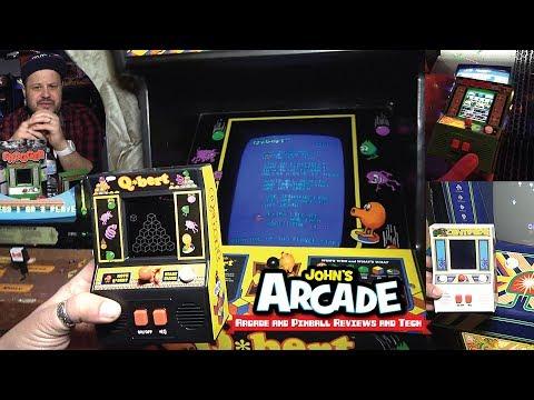 Let's Compare! Basic Fun Mini Arcade Vs. Original 80s Arcade Games - Q*bert, Frogger, Centipede