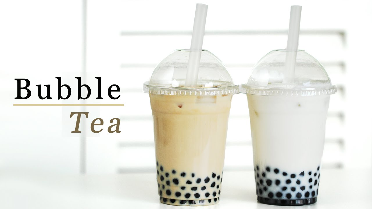 How to make bubble iced tea with milk green