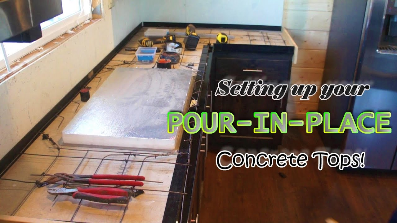 Diy Pour In Place Concrete Countertops