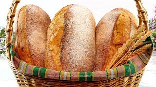 Бездрожжевой пшеничный хлеб на закваске Вермонтский хлеб с цельнозерновой пшеничной мукой