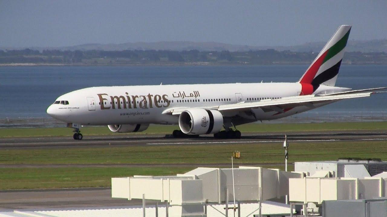 Emirates boeing 777 200lr inaugural landing auckland airport youtube - Emirates airlines paris office ...