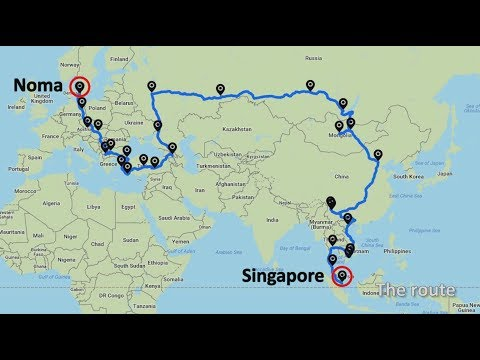 Singapore to Denmark overland solo | 26,000km, 18 countries,