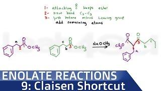 Claisen Condensation Product Shortcut by Leah4sci
