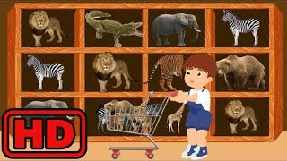 Kid -Kids -Baby Goes Shopping For Groceries To Buy Animal Toys In Super Market | Cart Toy For Kid |